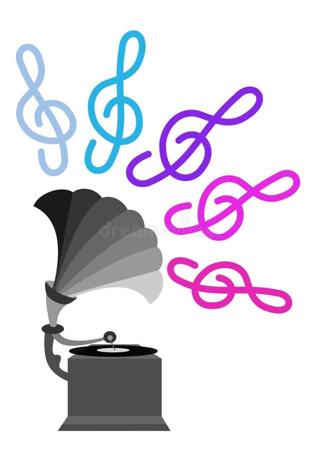 Download Gramophone stock illustration. Image of gramophone, sixties - 15236131