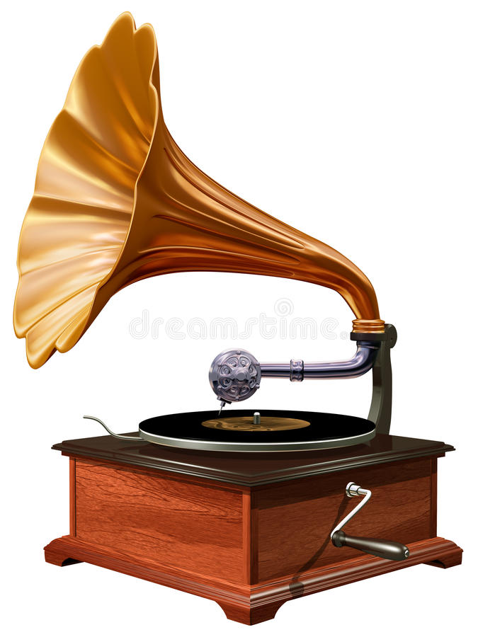 Download Gramophone stock illustration. Image of player, isolated - 22371071