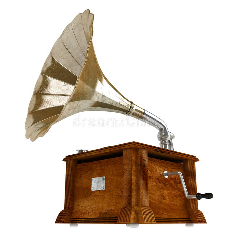 Download Gramophone stock illustration. Image of isolated, entertainment - 22878742