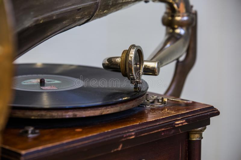 Gramophone head close up royalty free stock image