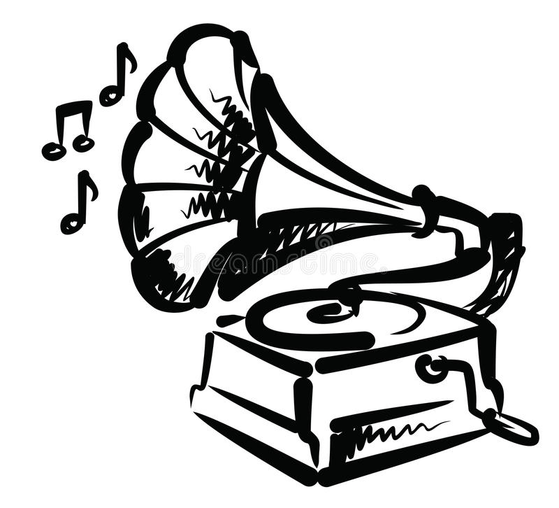 Download Gramophone icon stock vector. Image of records, gramophone - 28936499