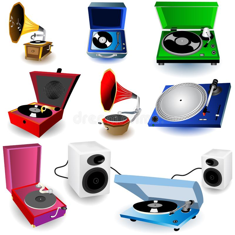 Gramophone Icons Free Stock Photo