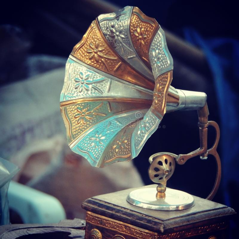 Gramophone. My favourite picture , I clicked it at one craft shop stock photography