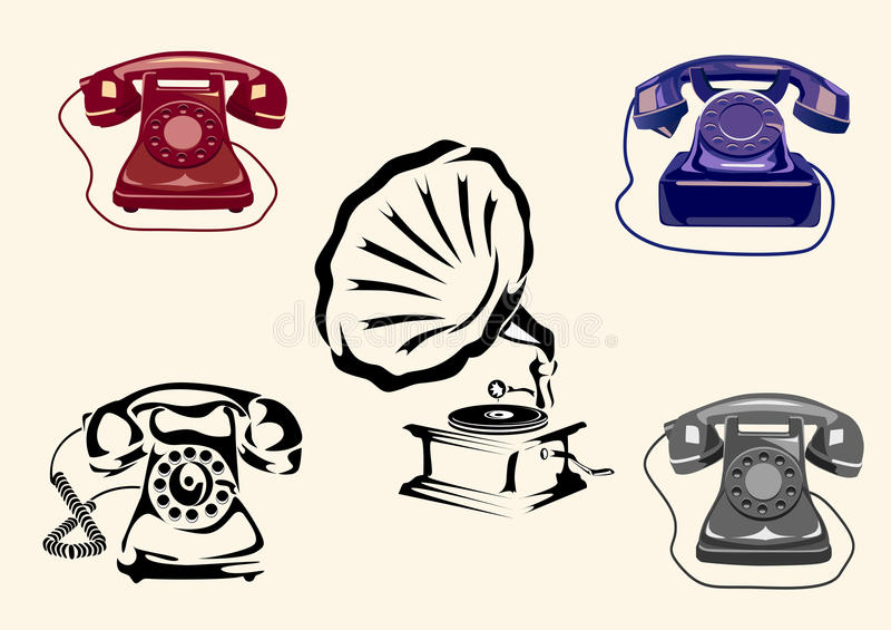 Download Gramophone, phone stock vector. Illustration of rock - 27410936