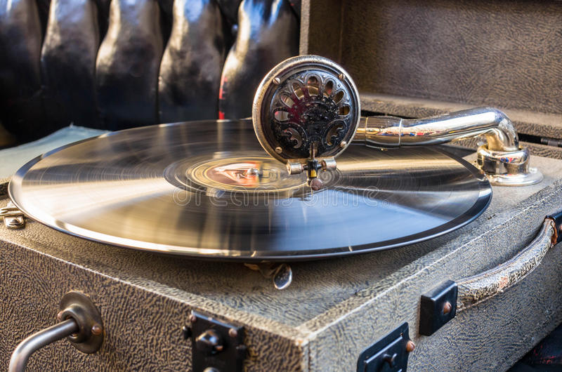 Gramophone royalty free stock photo