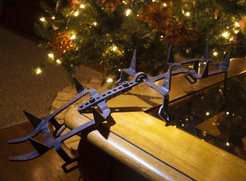 Grampón oxidado en la Navidad fotos de archivo libres de regalías