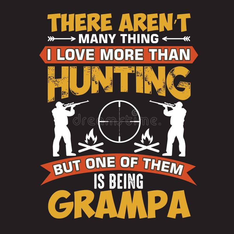Grampa älskar att jaga vektor illustrationer