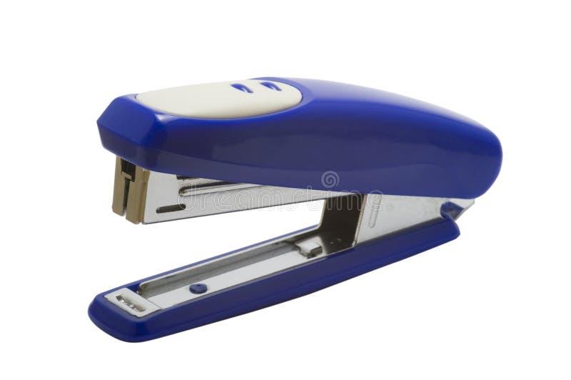 Grampeador azul do escritório imagem de stock