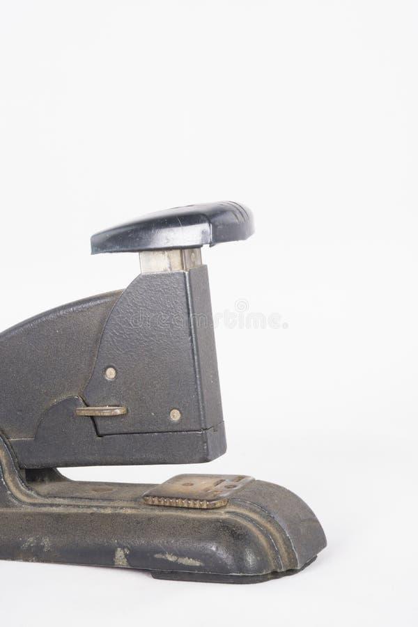 Grampeador preto antigo imagem de stock