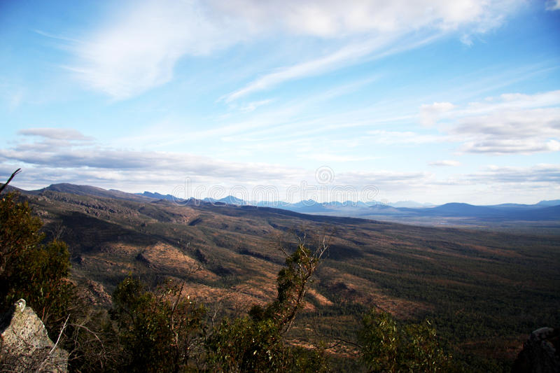 Grampians Australia mountain view. A look at the country side from the Grampians Australia stock images