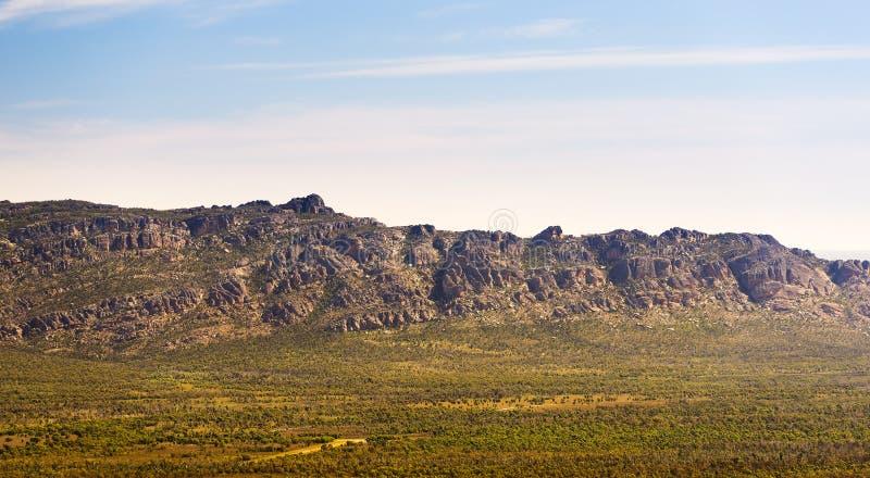 Grampians Mountains. Mountains in the Victoria Valley, Grampians National Park, Victoria, Australia stock photo