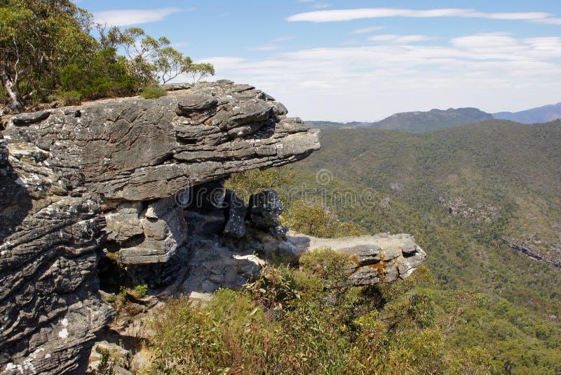 Grampians National Park, Australia. The famous Balconies, Grampians National Park, Australia stock photography