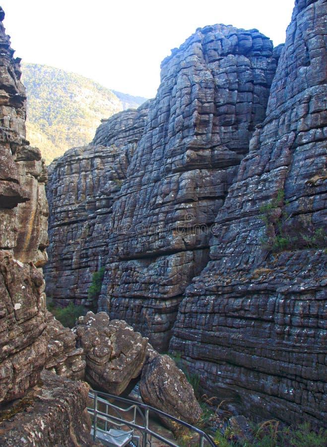 Grampians rock formation. Hiking through the grampians in australia stock image