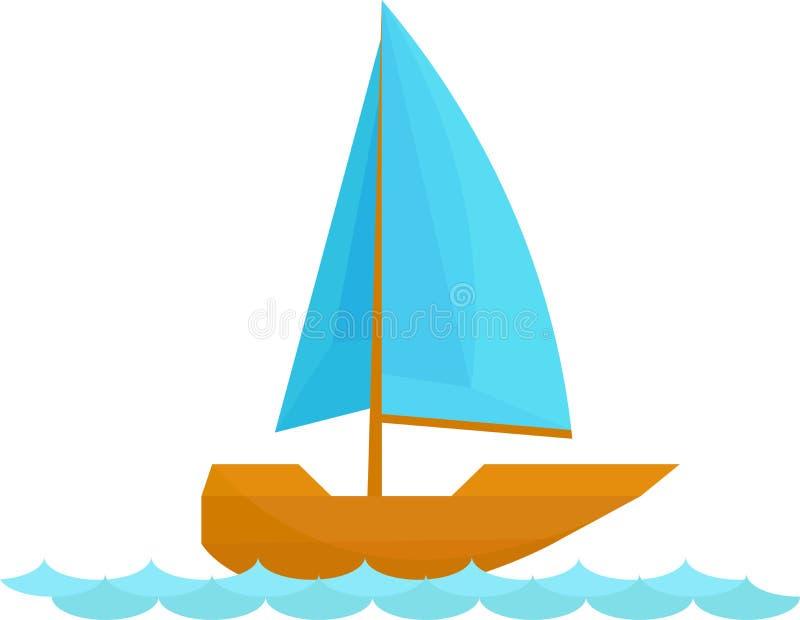 Grampo Art Design do vetor do barco de vela ilustração do vetor