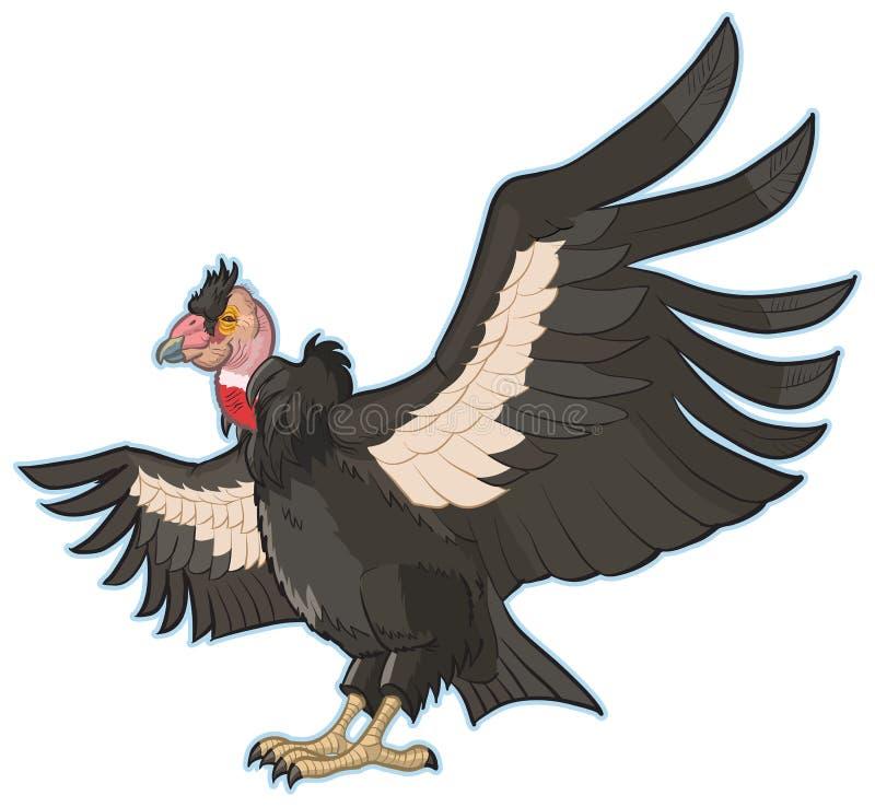 Grampo Art Illustration do vetor do condor de Califórnia ilustração royalty free