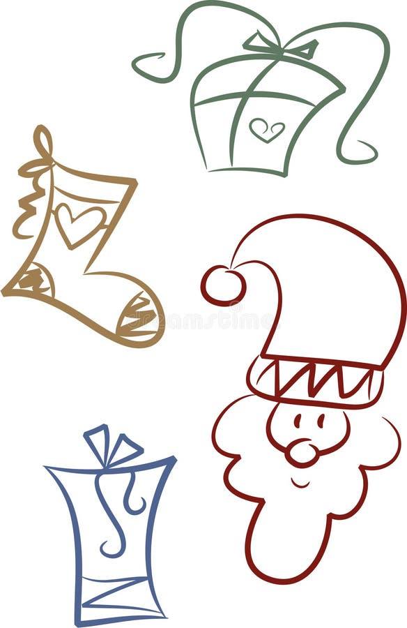 Grampo-arte ajustada: Doação do Natal ilustração stock