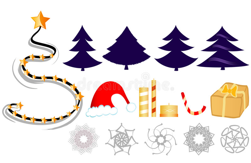 Grampo-arte do Natal ilustração stock