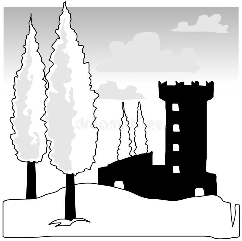Grampo-Arte do vetor de Toscânia ilustração do vetor
