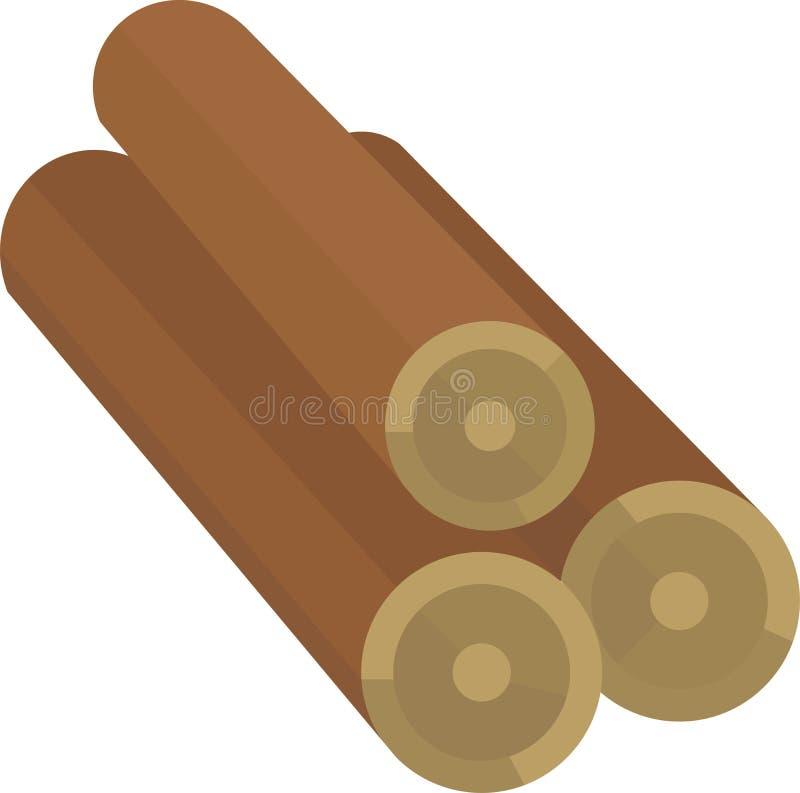 Grampo de madeira Art Design do vetor dos logs ilustração royalty free