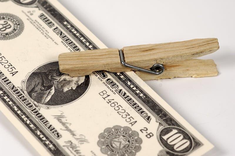 Grampo do dinheiro fotografia de stock