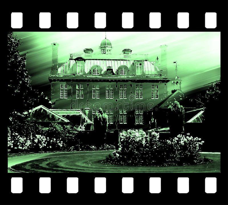 Grampo do frame de película da casa velha foto de stock royalty free