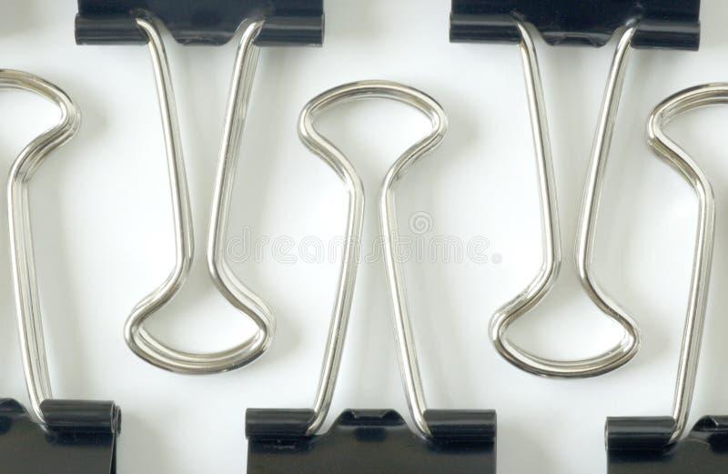 Grampos da pasta imagem de stock