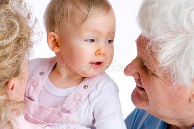 Gramps, Oma und ich lizenzfreies stockbild