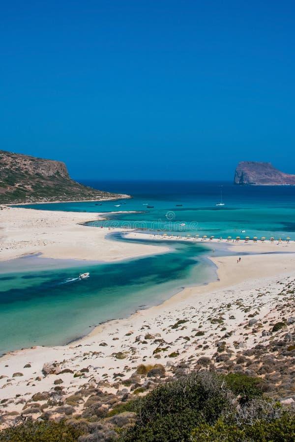 Gramvousa海岛和Balos盐水湖克利特的 图库摄影