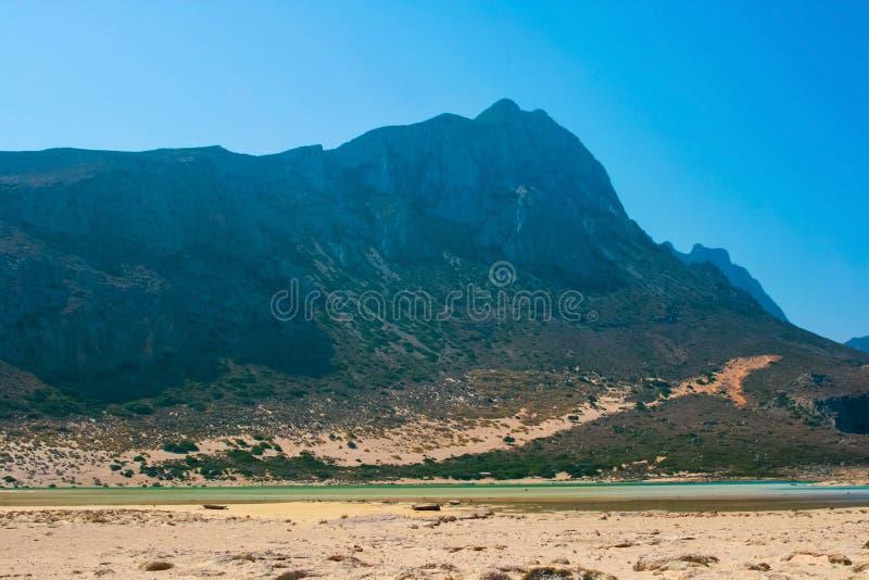 Gramvousa海岛和Balos盐水湖克利特的 库存图片