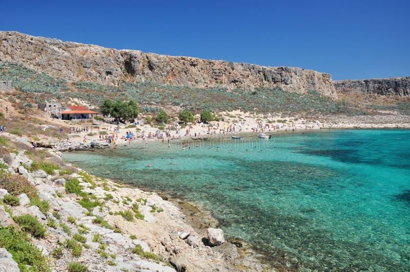 Gramvousa,克利特,希腊 库存照片