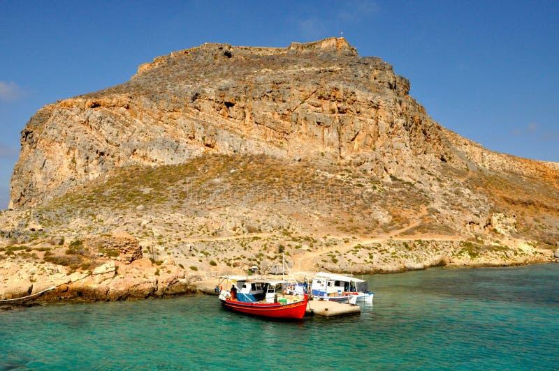 Gramvousa wyspa zdjęcia stock