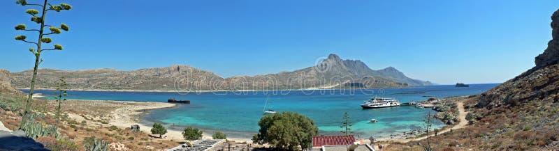 Gramvoussa_Crete_Panorama foto de archivo libre de regalías