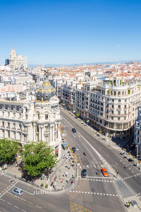 Gran über Madrid Spanien lizenzfreie stockfotografie