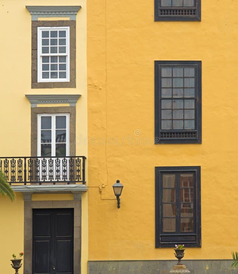 Gran деталь городка Canaria, Las Palmas старая стоковая фотография