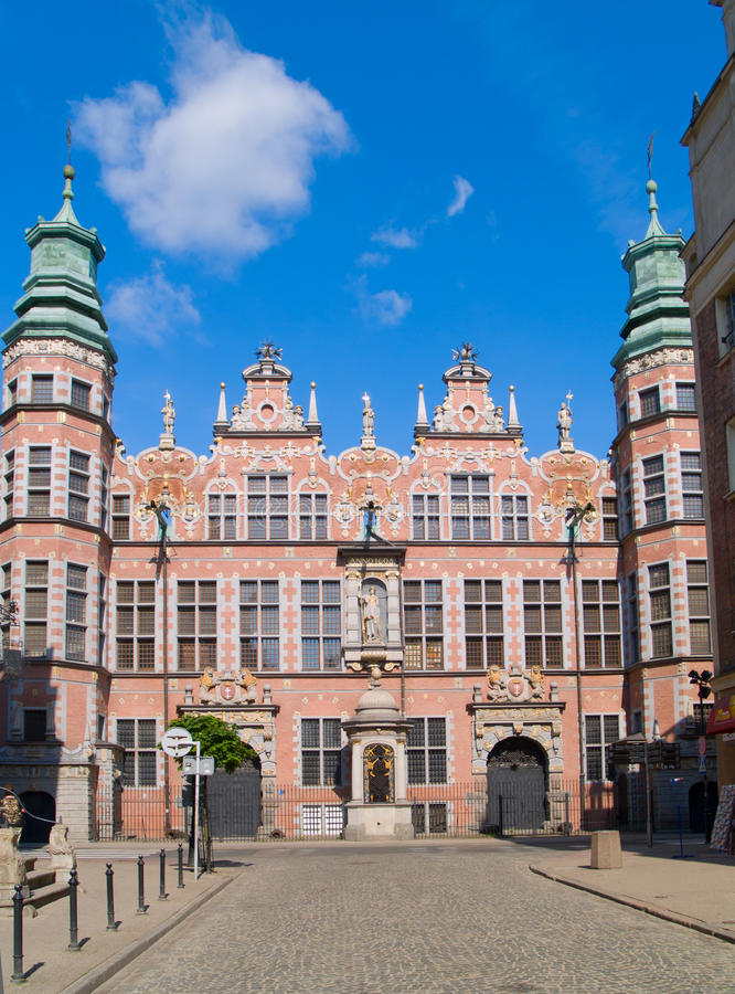 Gran arsenal Gdansk, Polonia fotos de archivo