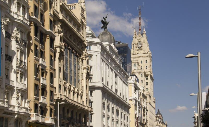 Gran através no Madri, Espanha foto de stock