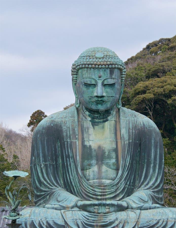 Gran Buda en el templo budista de Kotokuin en Kamakura fotos de archivo libres de regalías