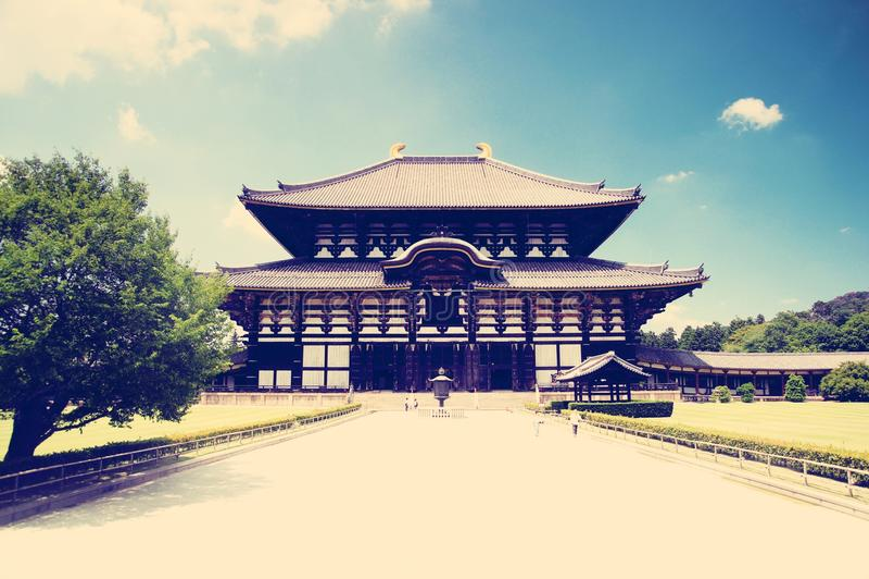 Gran Buda Pasillo (Daibutsuden) de Todai-ji (gran templo del este), Nara imagenes de archivo