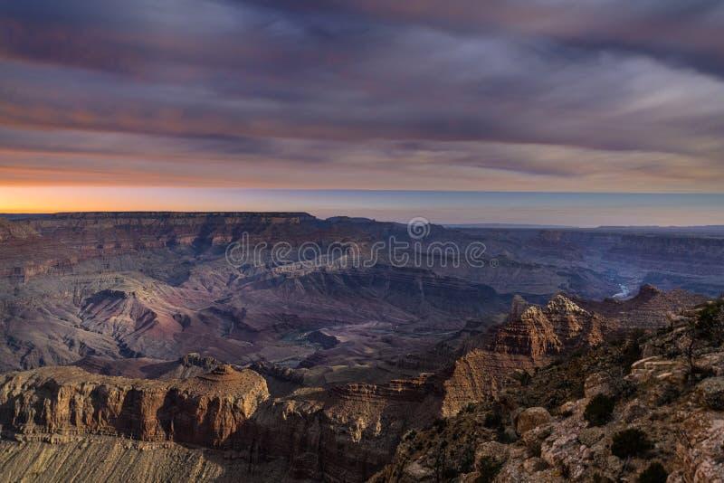 Gran Cañón durante el amanecer imagen de archivo