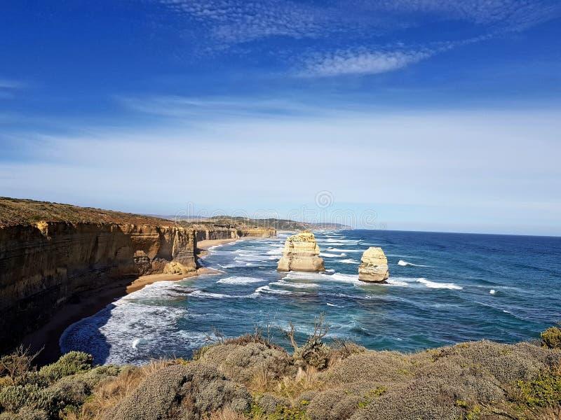 Gran camino Australia del océano imagen de archivo libre de regalías