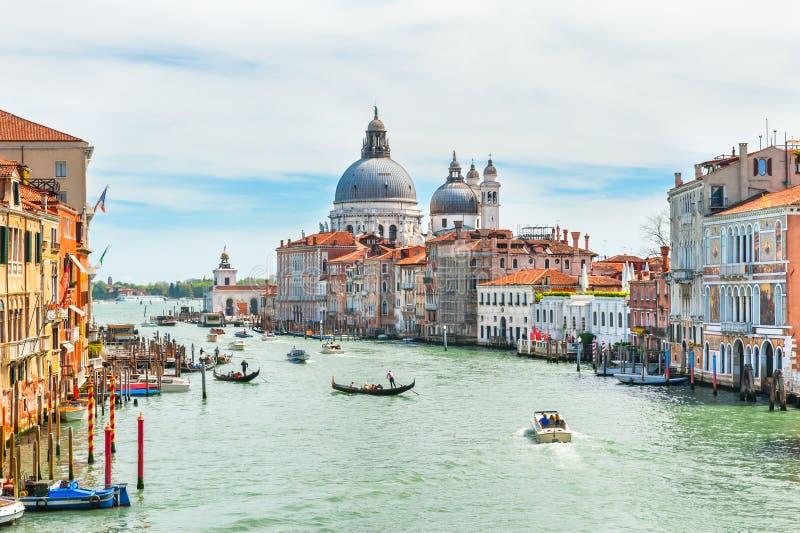 Gran Canal en Venecia, Italia imagenes de archivo