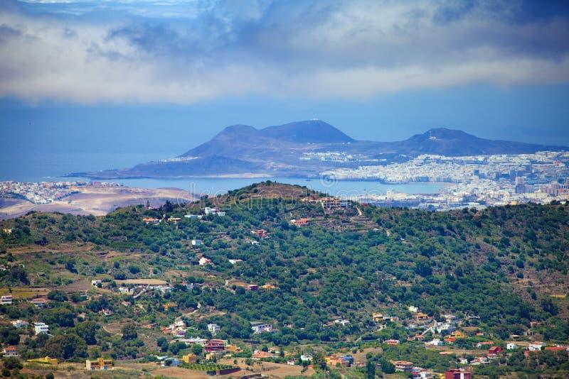 Gran Canaria, вид с воздуха к Las Palmas стоковые изображения rf