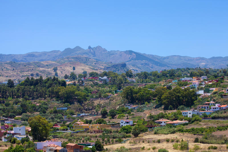 Gran Canaria, Barranco de Санта Brigida стоковые фотографии rf