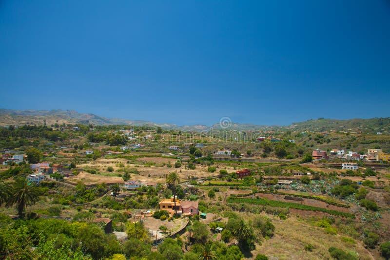 Gran Canaria, Barranco de Santa Brigida royaltyfria foton