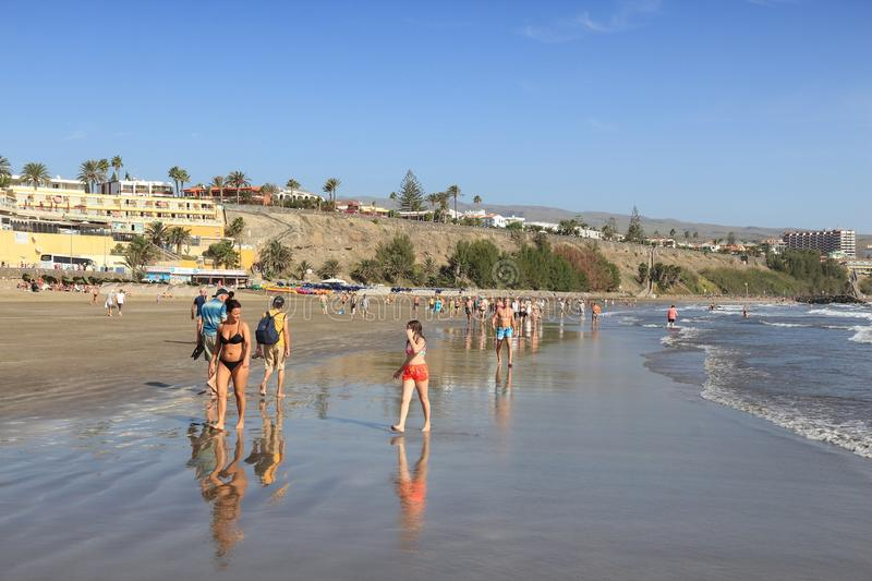 Gran Canaria beach royalty free stock photography