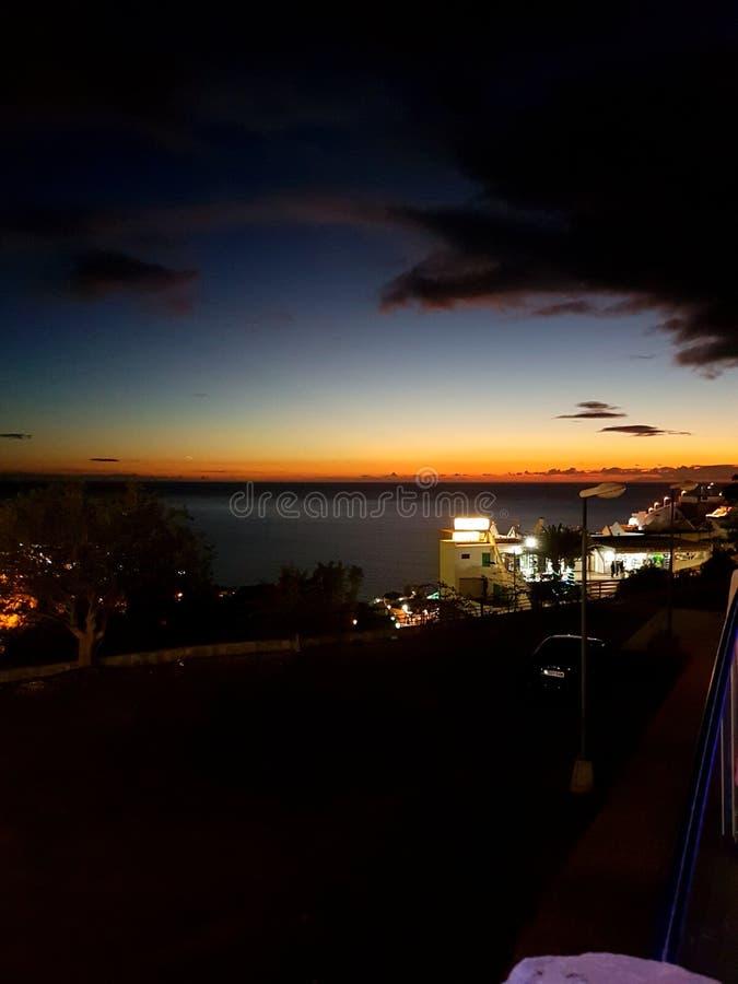 Gran Canaria bis zum Nacht lizenzfreies stockfoto