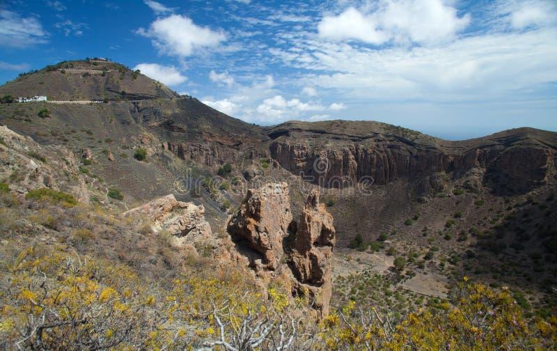 Gran Canaria, Caldera DE Bandama stock foto's