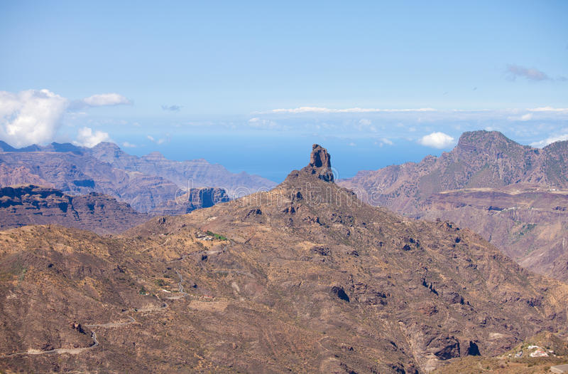 Gran Canaria, Caldera DE Tejeda stock foto's