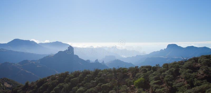 Gran Canaria, Caldera de Tejeda arkivfoto