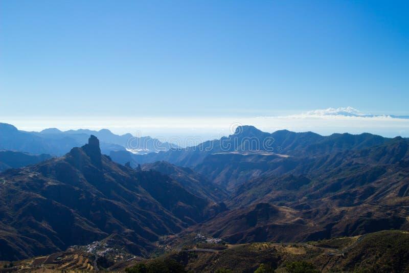 Gran Canaria, Caldera de Tejeda, eftermiddagljus fotografering för bildbyråer